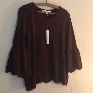 Lauren Conrad Burgundy Bell Sleeve Sweater NWT M